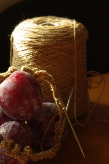 yarn and plums