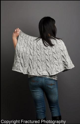 cabled shawl from Fresh Designs